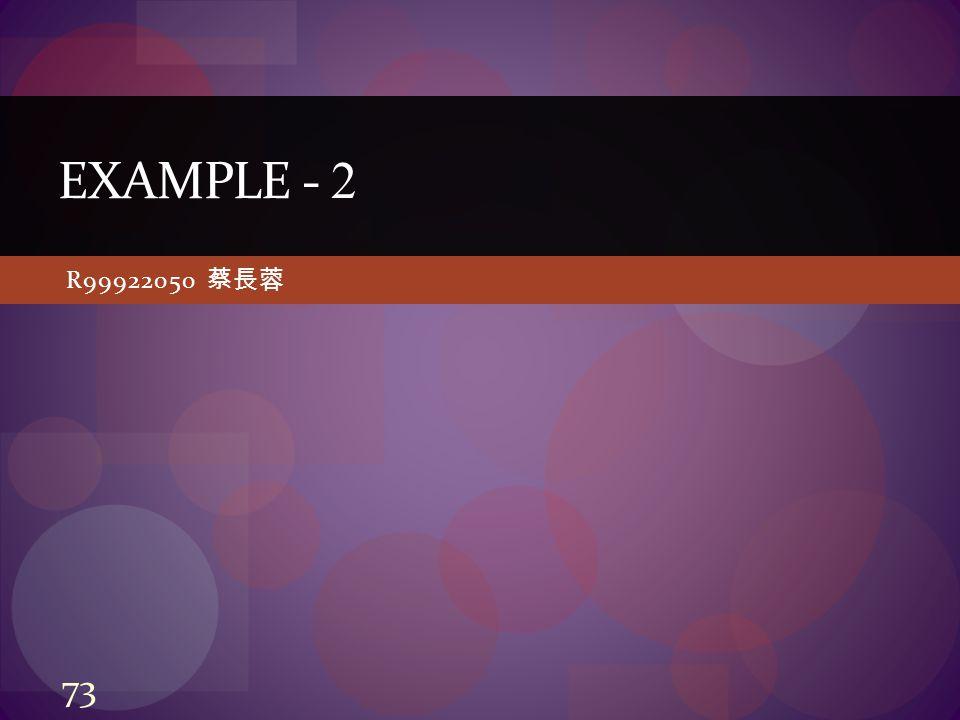 R99922050 蔡長蓉 EXAMPLE - 2 73