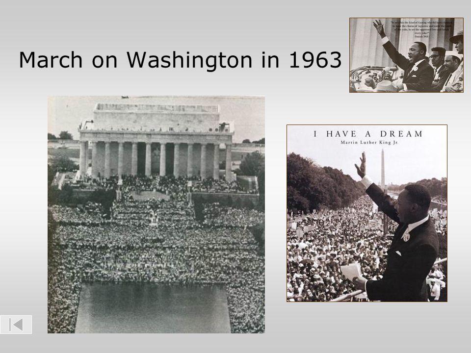 March on Washington in 1963