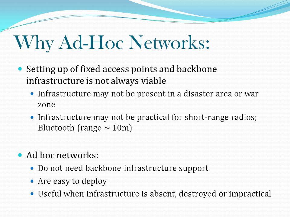 Conclusion: A Mobile Ad-hoc network is a wireless ad-hoc network which is used to exchange information.