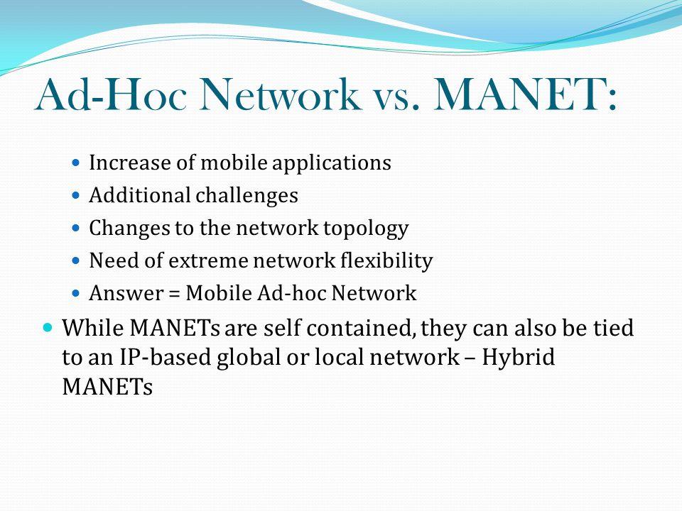 Hybrid MANET: