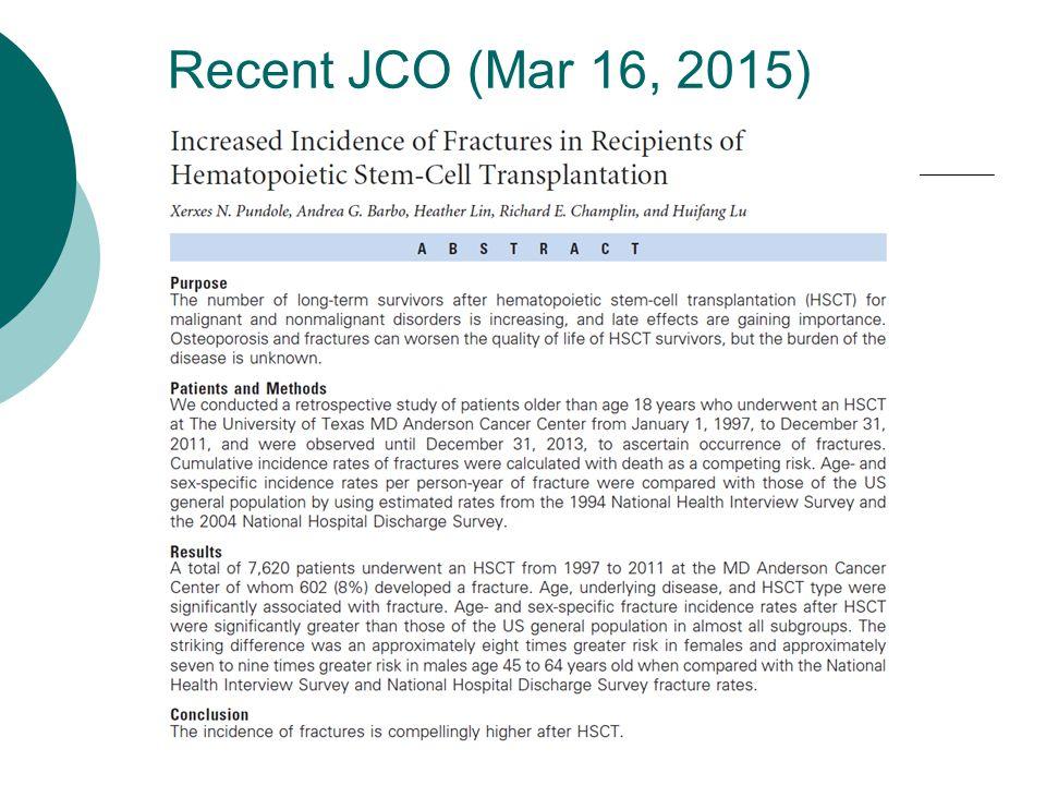 Recent JCO (Mar 16, 2015)