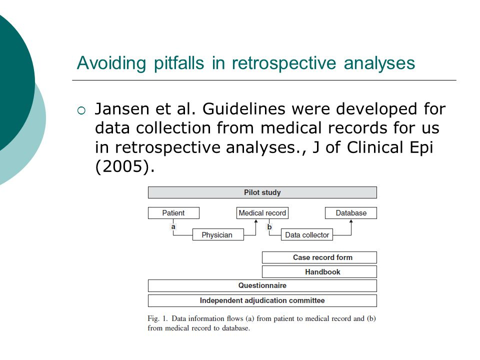 Avoiding pitfalls in retrospective analyses  Jansen et al.