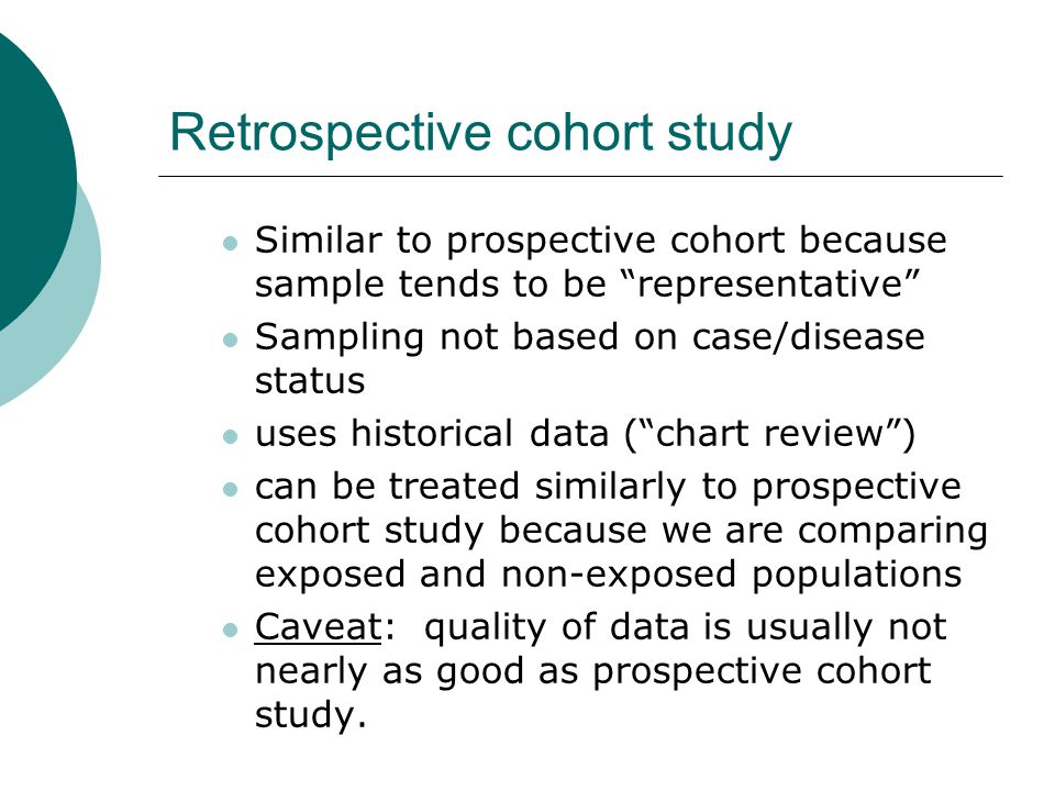 Key difference WHO IS BEING COMPARED.COHORT: EXPOSED VS.