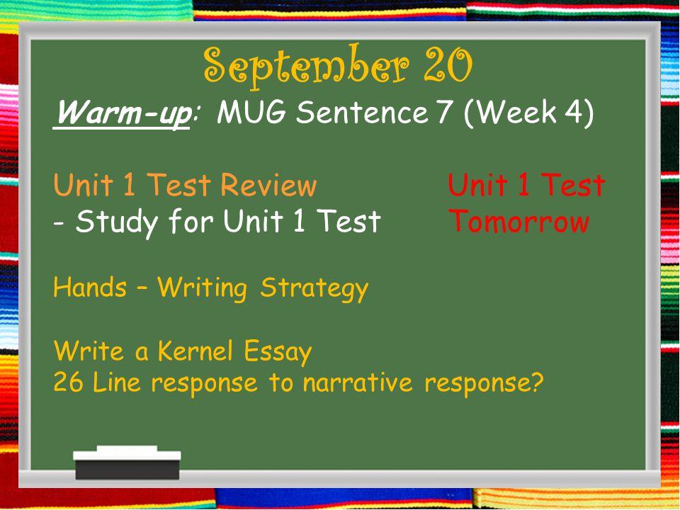 September 21 Finished test.