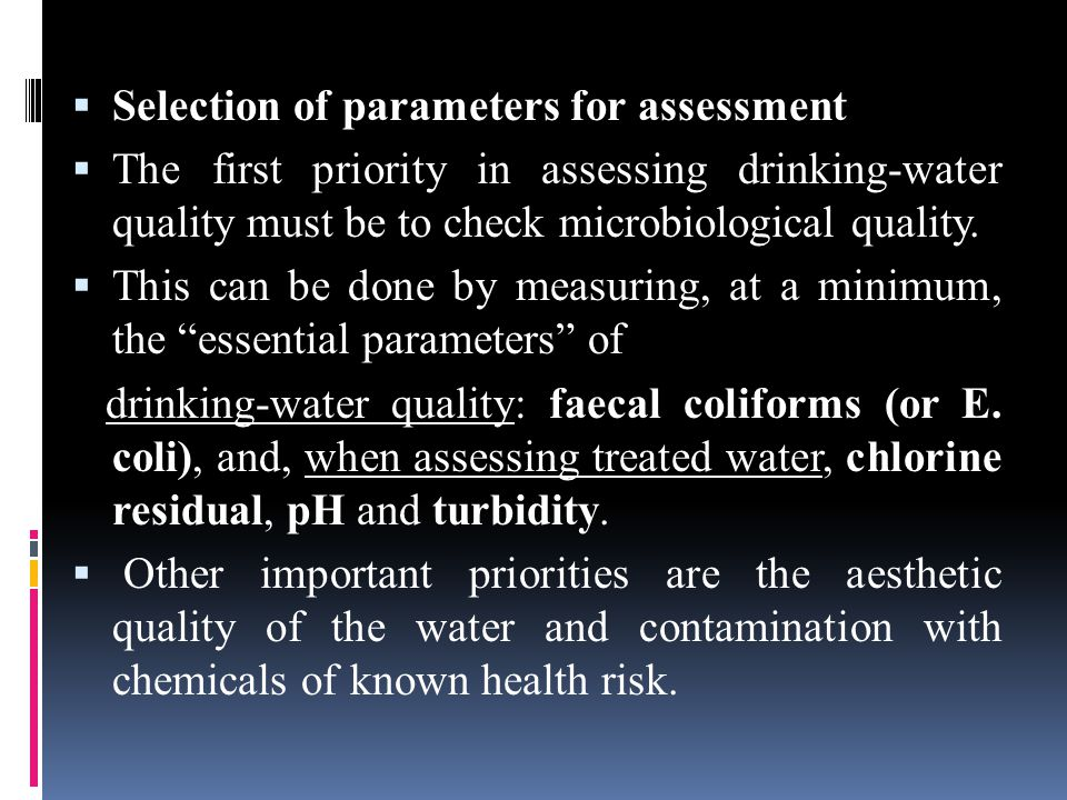  Natural chemical contaminants often affect large areas and multiple water sources, although there may be significant variation in contamination levels from source to source.