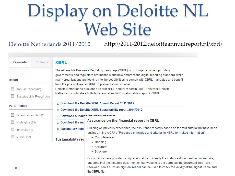 Display on Deloitte NL Web Site http://2011-2012.deloitteannualreport.nl/xbrl/