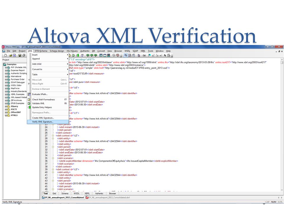 Altova XML Verification