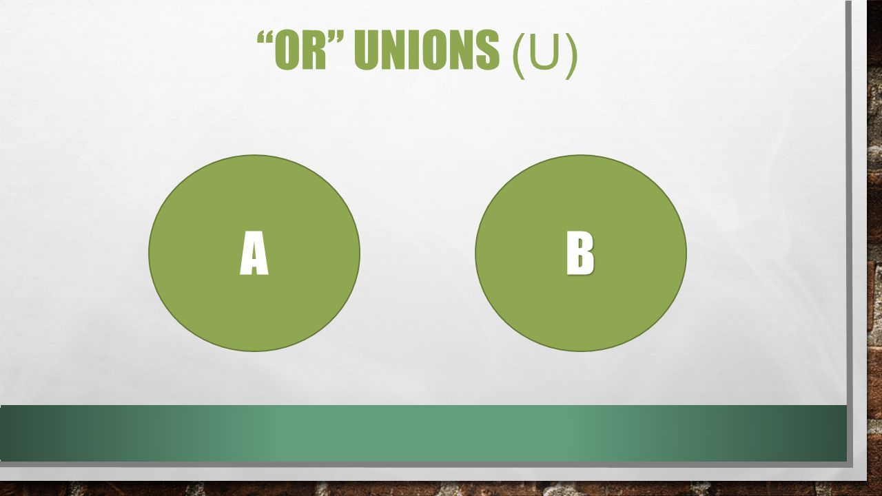 OR UNIONS (U) AB
