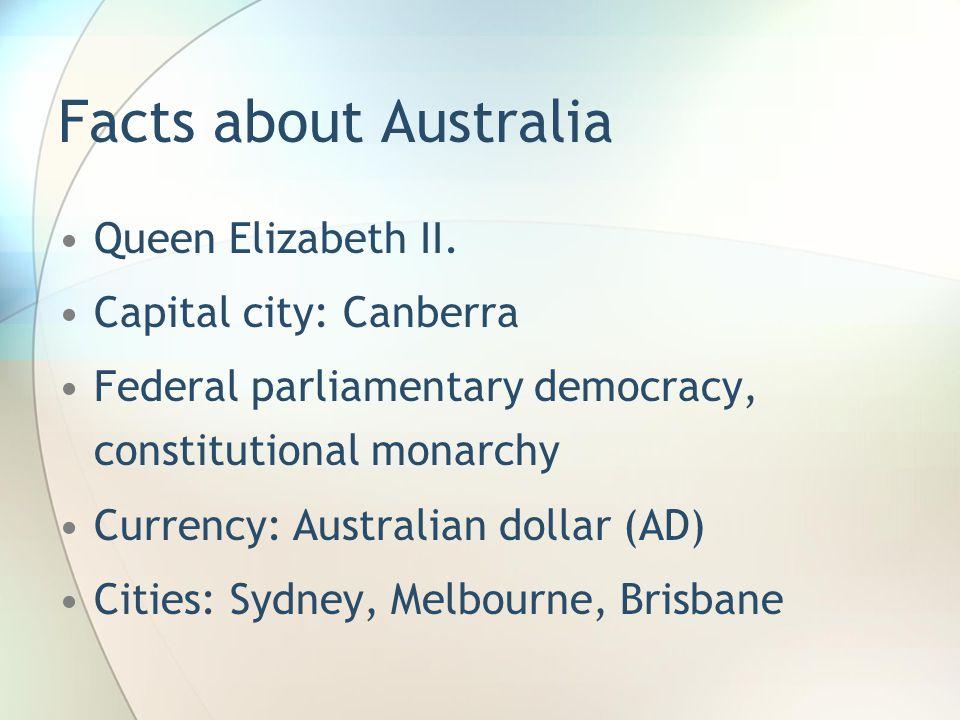 Facts about Australia Queen Elizabeth II.