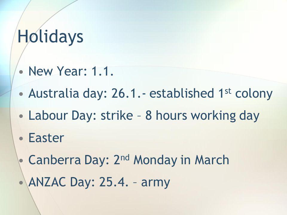 Holidays New Year: 1.1.