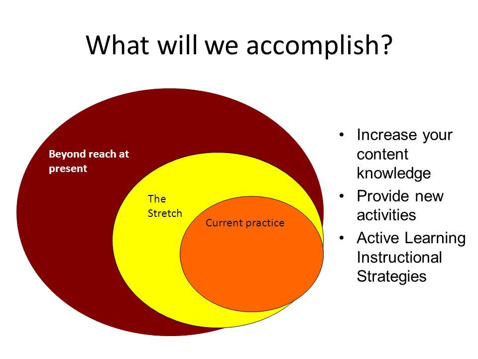 What will we accomplish.