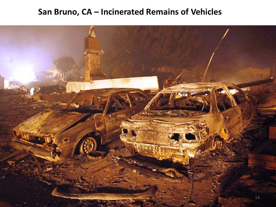 San Bruno, CA – Incinerated Remains of Vehicles 14