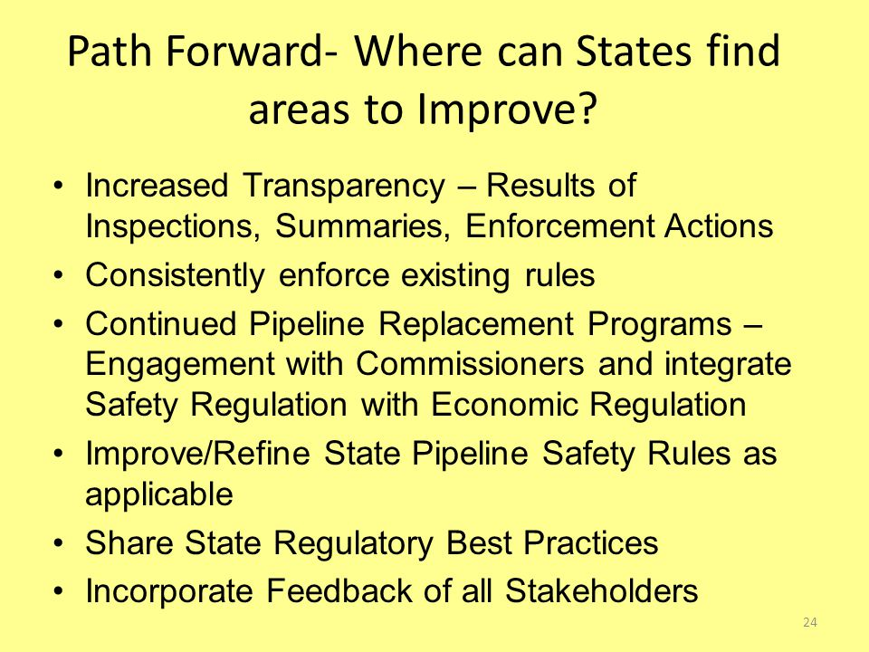 Path Forward- Where can States find areas to Improve.