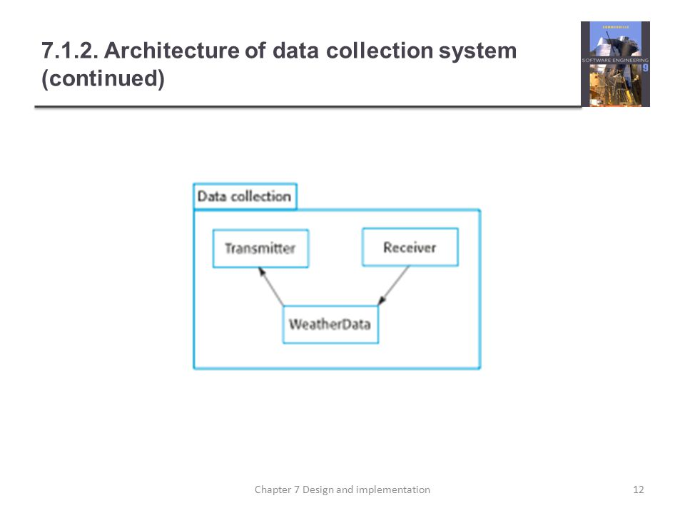 7.1.2. Architecture of data collection system (continued) 12Chapter 7 Design and implementation