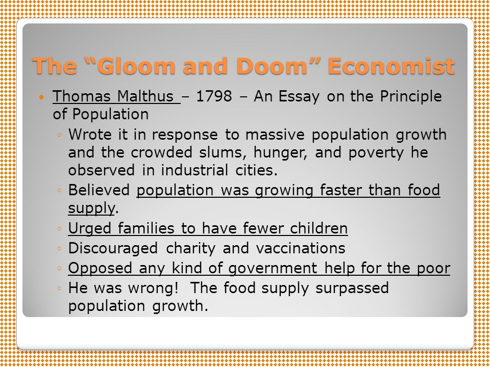 malthus essay on human population growth