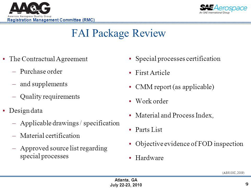 Registration Management Committee (RMC) Atlanta, GA July 22-23, 2010 Case Study (Gladhill & Associates, 2007) 10