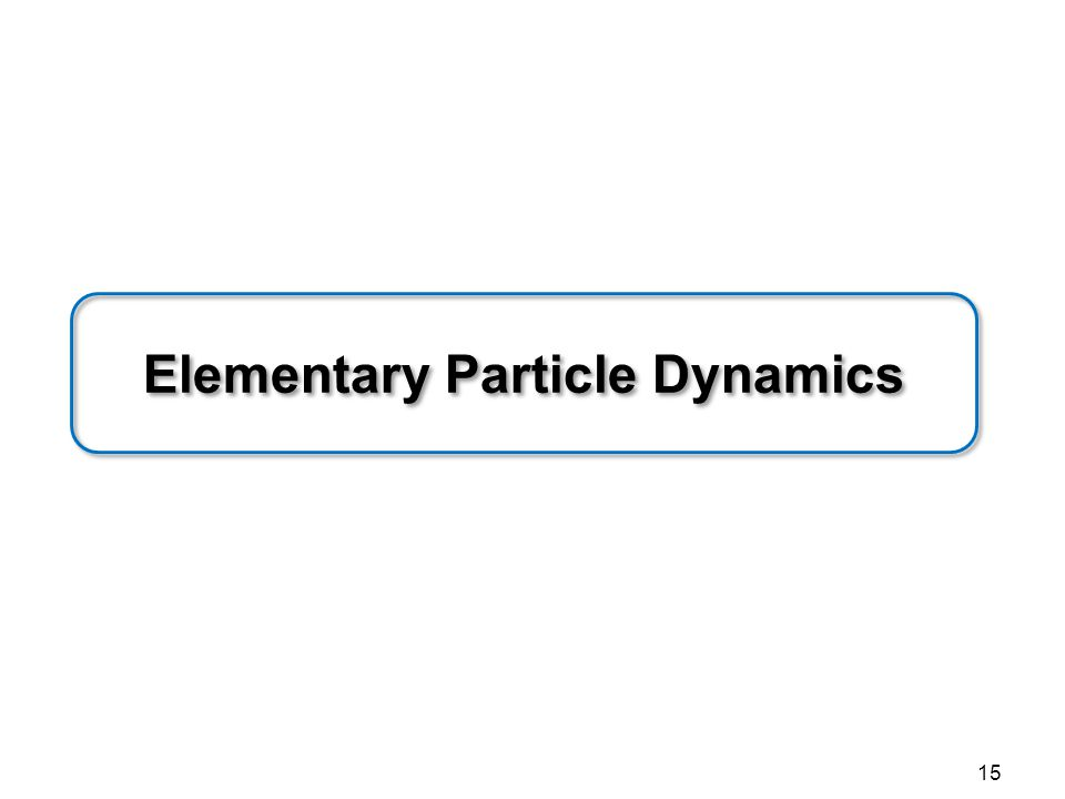 Elementary Particle Dynamics 15