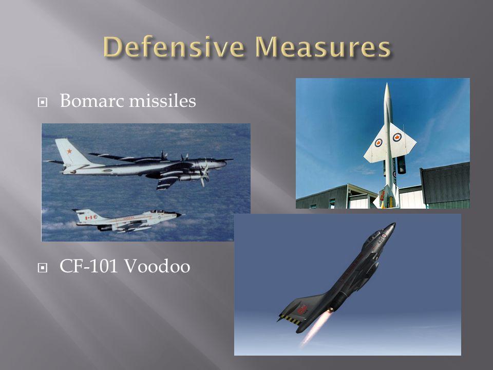 Bomarc missiles  CF-101 Voodoo