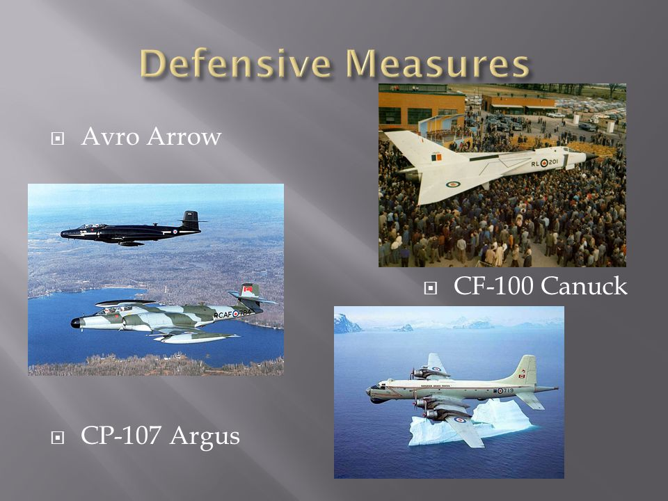  Avro Arrow  CF-100 Canuck  CP-107 Argus