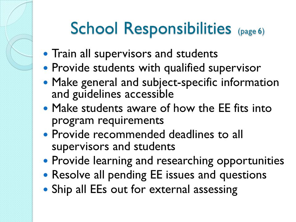 responsible student essay People can play different roles of responsibility in many different circumstances, such as being a daughter, a student, and an employee  each character might play different roles of responsibility for example, children need to take care of themselves well, students need to finish their education well, and employees need to work hard, in order to move onto a higher position.