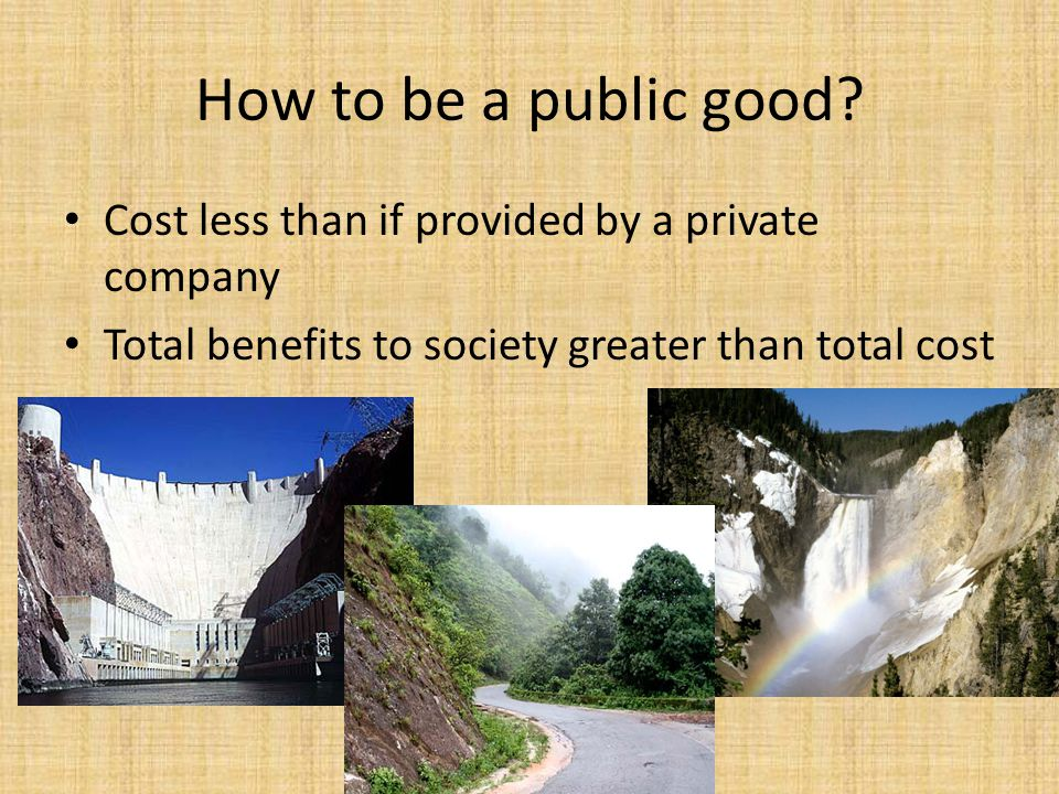 How to be a public good.