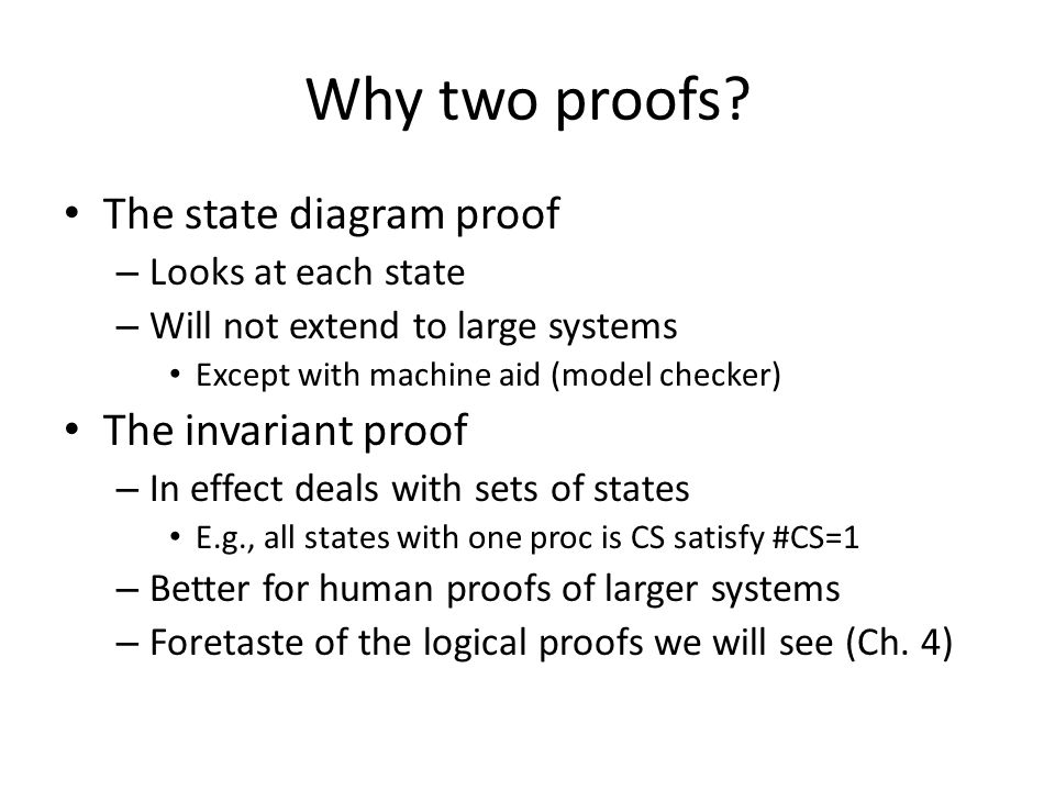 Why two proofs.