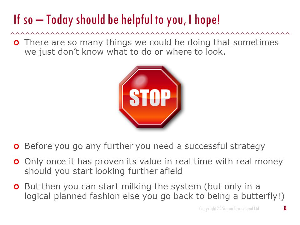 Copyright © Simon Townshend Ltd How do we define a successful strategy .