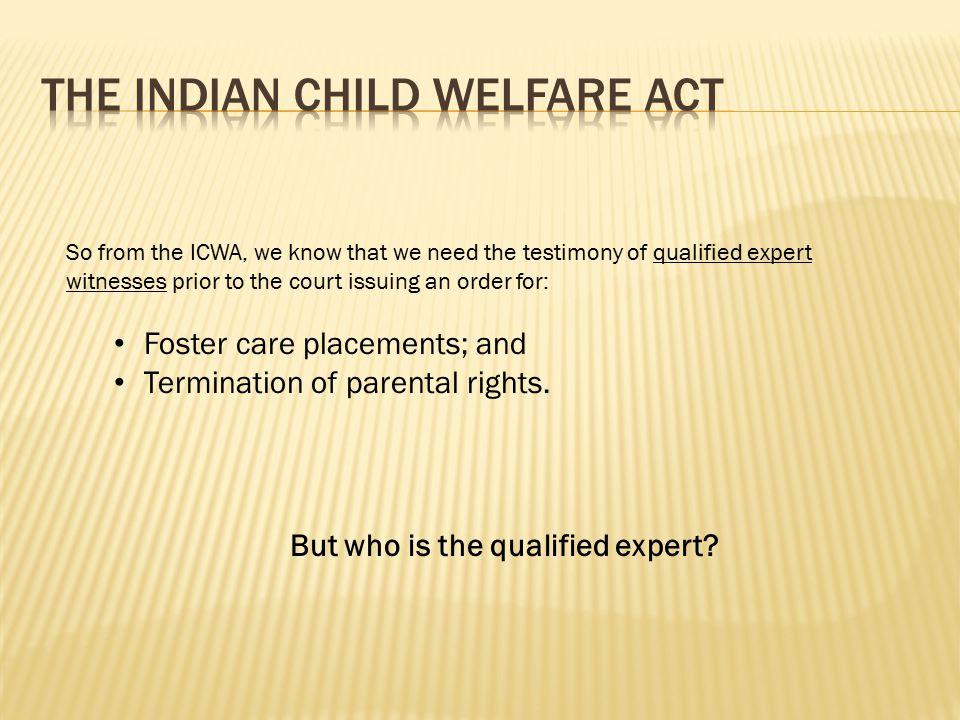 The Washington State Indian Child Welfare Act