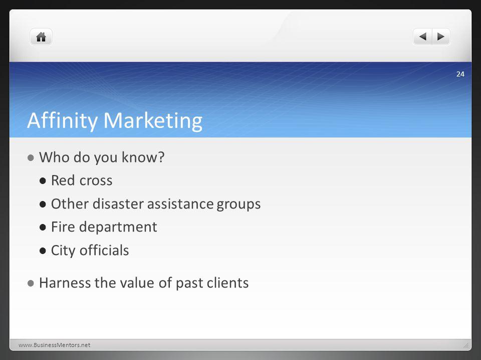 Affinity Marketing Who do you know.