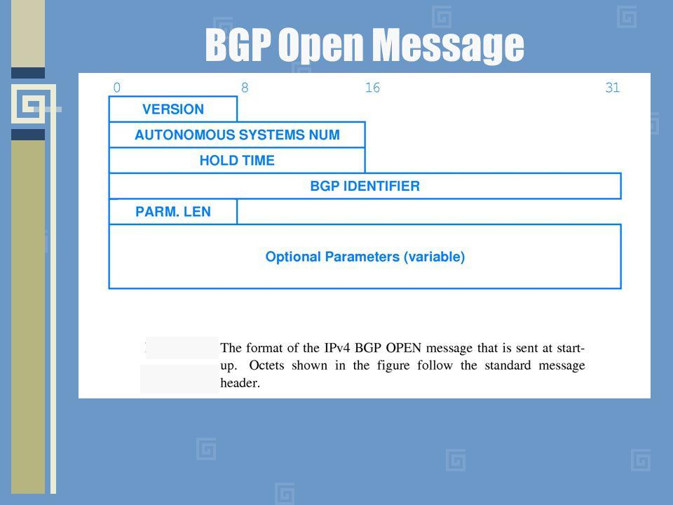 BGP Open Message