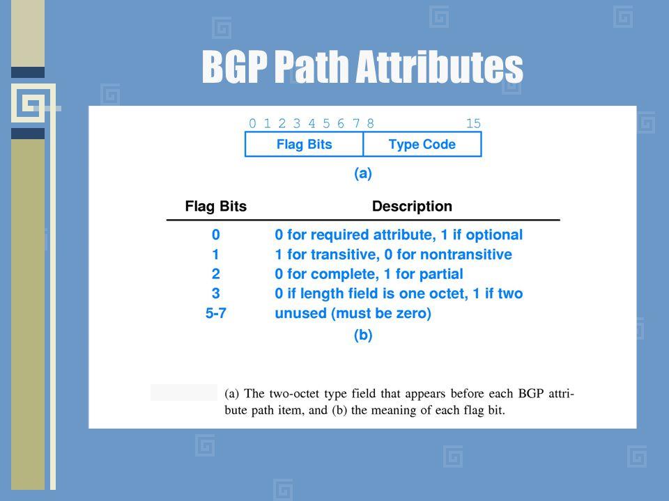 BGP Path Attributes