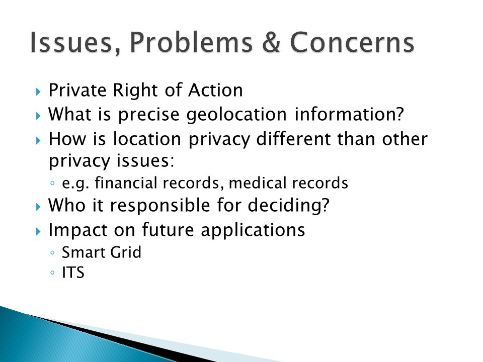  Private Right of Action  What is precise geolocation information.
