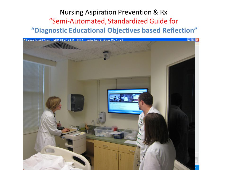"Nursing Aspiration Prevention & Rx ""Semi-Automated, Standardized Guide for ""Diagnostic Educational Objectives based Reflection"""
