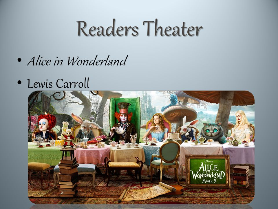 Readers Theater Alice in Wonderland Lewis Carroll