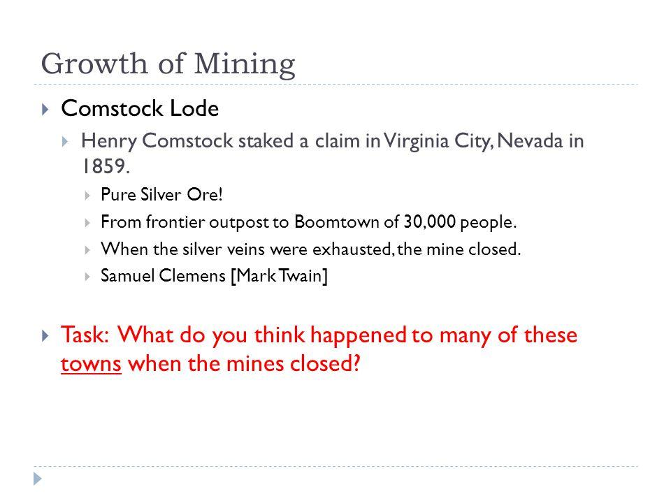Growth of Mining