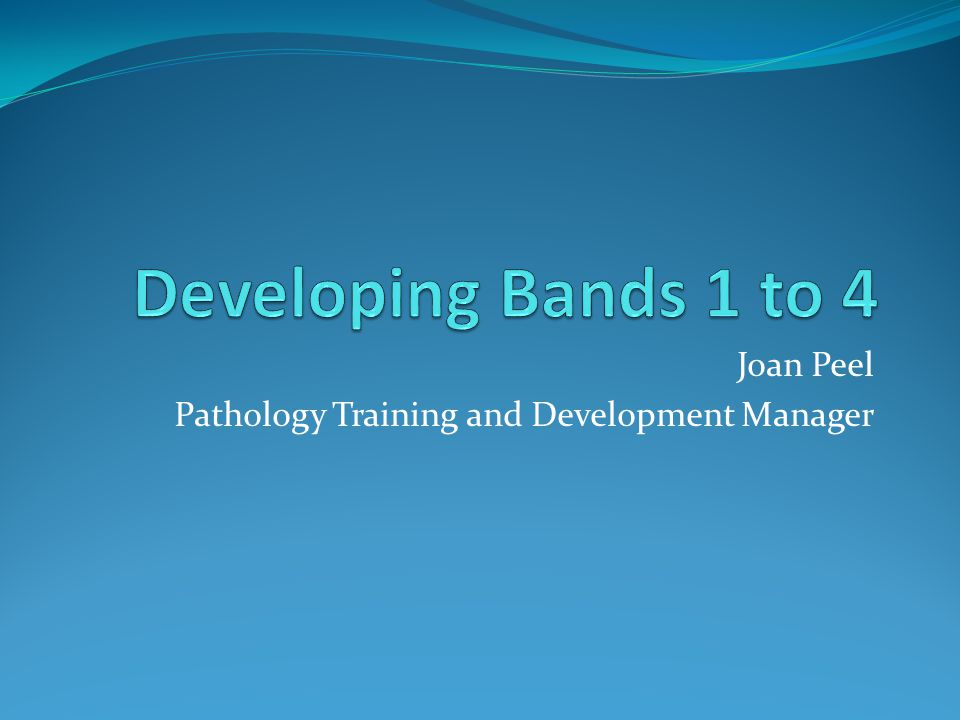 Joan Peel Pathology Training and Development Manager
