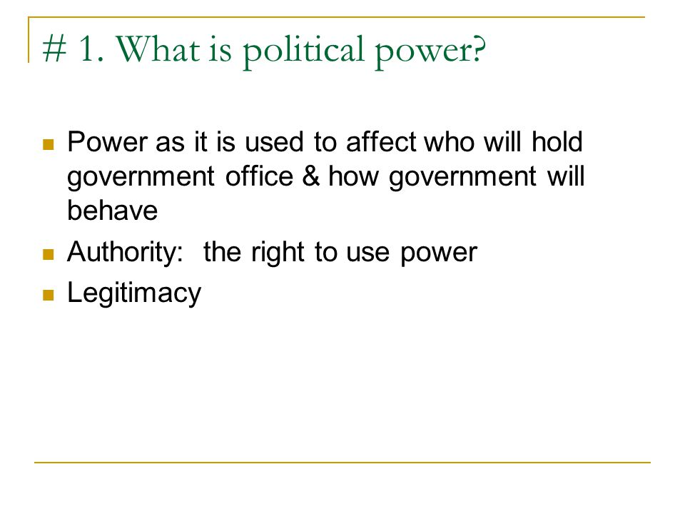 Figure 3.1: Lines of Power in Three Systems of Government (cont'd)