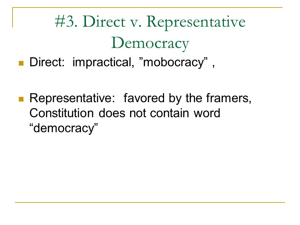 #4.How is power distributed in a democracy. A.