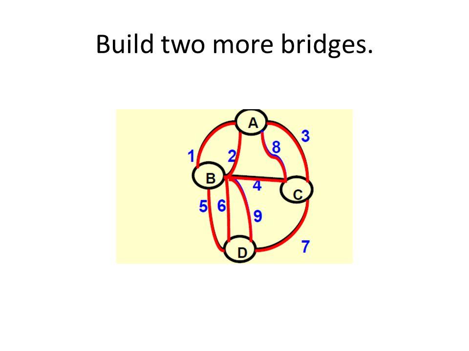 Build two more bridges.