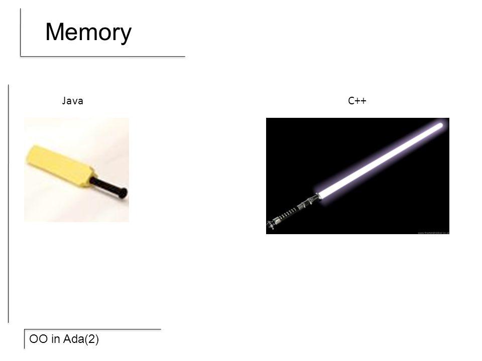 OO in Ada(2) Memory JavaC++