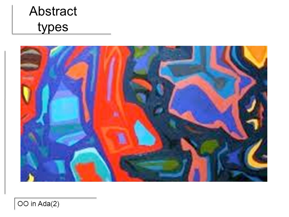 OO in Ada(2) Abstract types