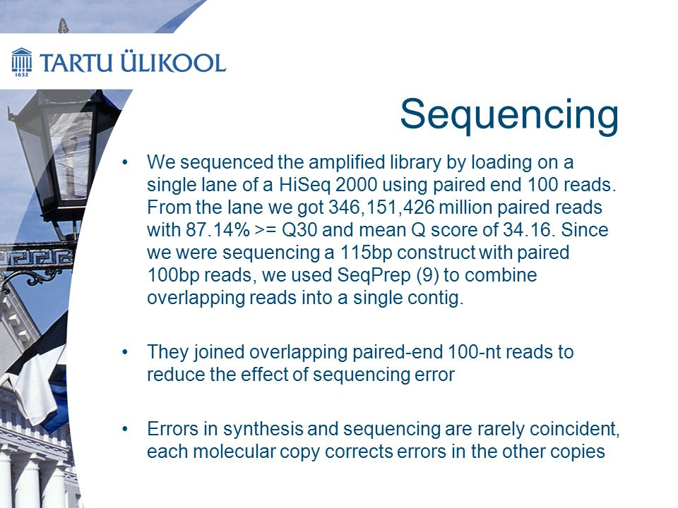 Results This also suggests that our mean sequencing coverage of 1,308 times was considerably in excess of that needed for reliable decoding.