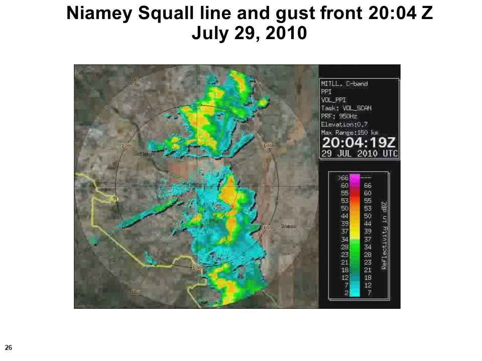 26 Niamey Squall line and gust front 20:04 Z July 29, 2010