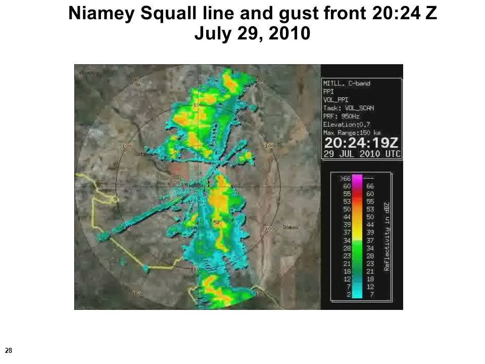 28 Niamey Squall line and gust front 20:24 Z July 29, 2010