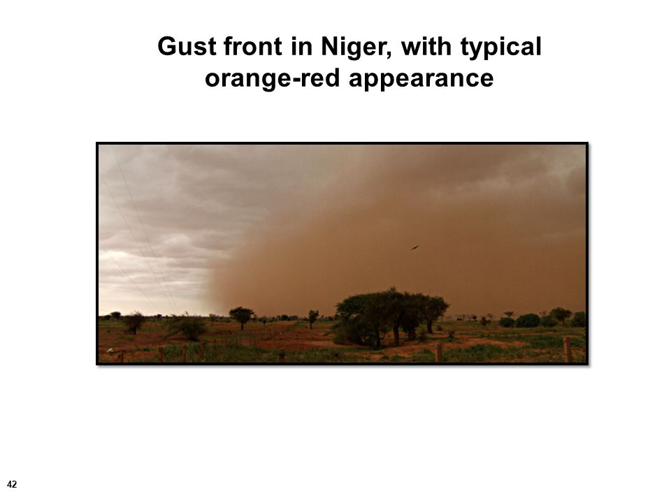42 Gust front in Niger, with typical orange-red appearance