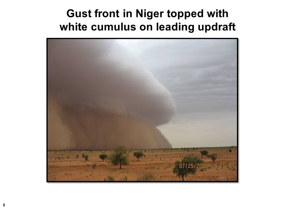 39 Dust gust front over Niger River in Niamey