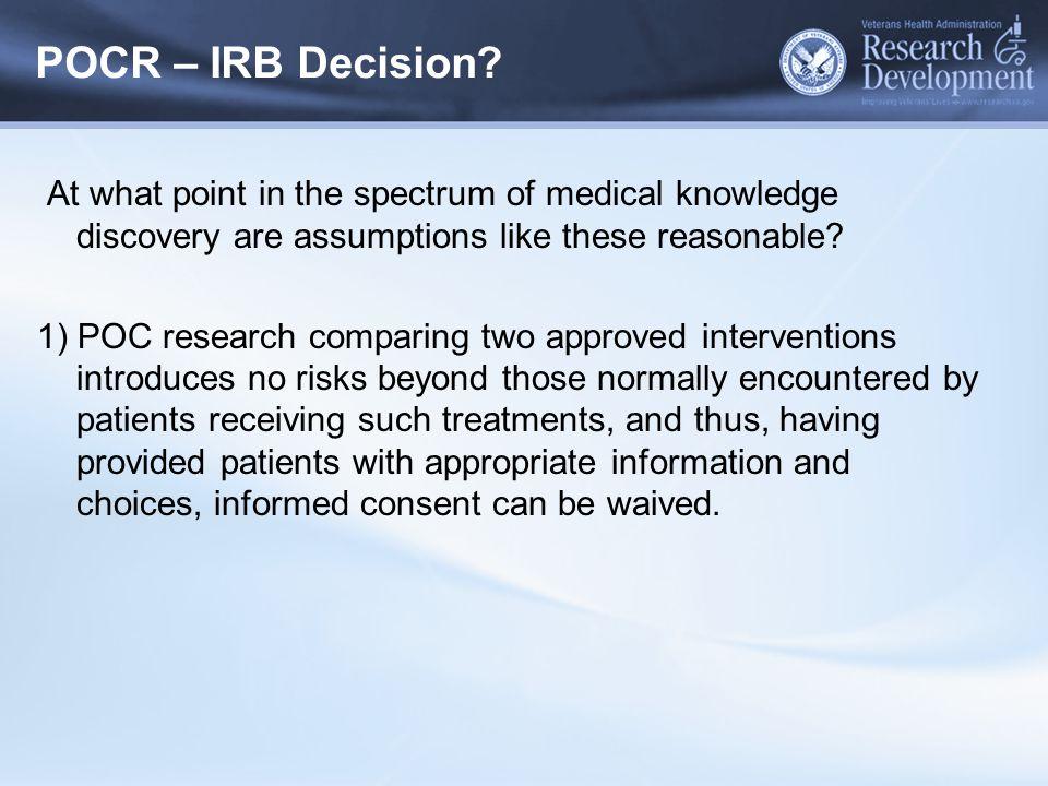POCR – IRB Decision.
