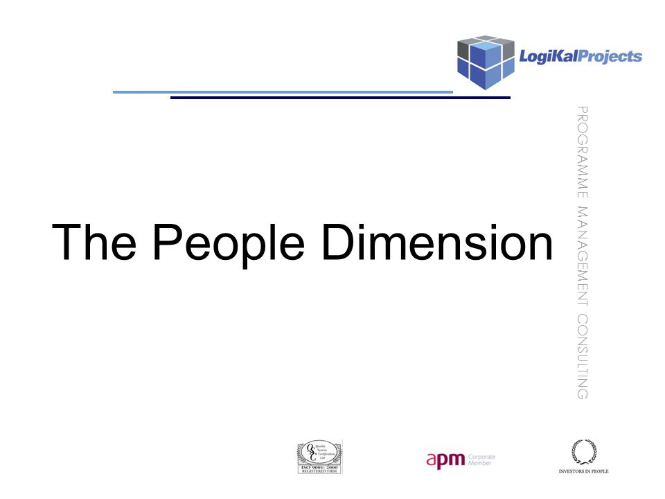PROGRAMME MANAGEMENT CONSULTING The People Dimension