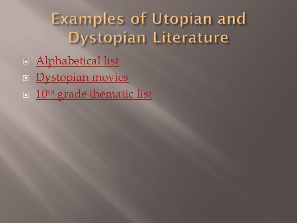  Utopian  Dystopian