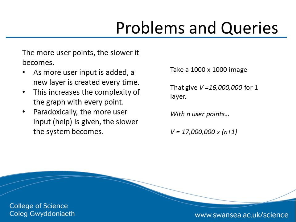 Problems and Queries The more user points, the slower it becomes.
